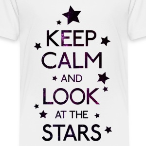 Keep Calm Stars Galaxy T-Shirts - Kinder Premium T-Shirt