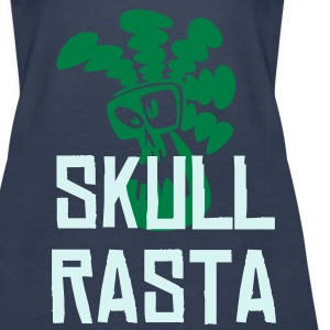 Sky blue Skull Rasta Tops - Women's Premium Tank Top