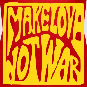 Rot Make love not war Girlie - Frauen Premium Tank Top