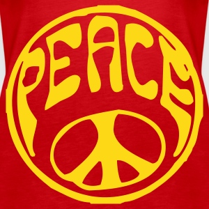 Rot Peace Girlie - Frauen Premium Tank Top