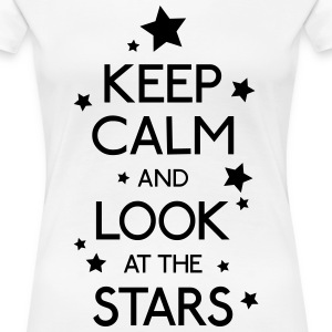 Keep Calm Stars T-Shirts - Frauen Premium T-Shirt