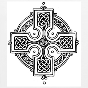White Celtic Cross T-Shirts - Men's Premium Tank Top