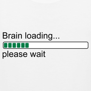 Weiß Brain loading... please wait T-Shirt - Männer Premium Tank Top