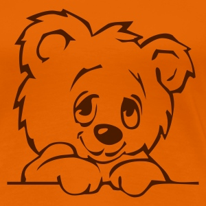Orange teddy3 Girlie - Frauen Premium T-Shirt