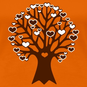 Orange tree of love Girlie - Frauen Premium T-Shirt
