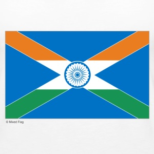 White India Scotland Mixed Flag Tops - Women's Premium Tank Top