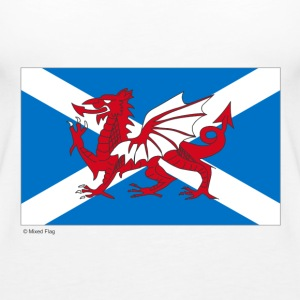 White Scotland Wales Mixed Flag Tops - Women's Premium Tank Top