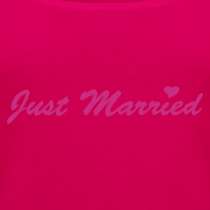 Pink Just Married Ladies' - Women's Premium Tank Top