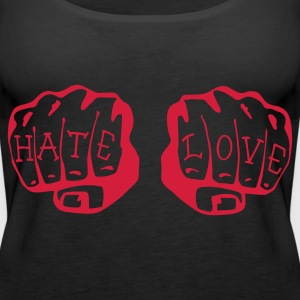 FIST OF LOVE AND HATE by VAN TRIBE  - Frauen Premium Tank Top