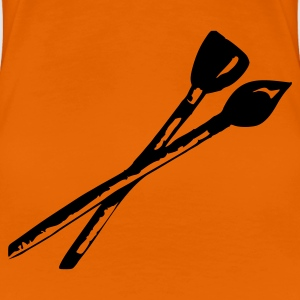 Orange Brush Ladies' - Women's Premium T-Shirt