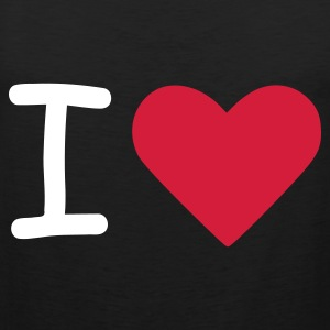 Zwart I love - I heart Heren t-shirts - Mannen Premium tank top