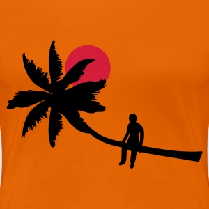 Orange Palm boy - summer sun beach ocean Damtröja - Premium-T-shirt dam