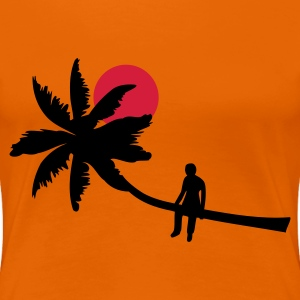Oransje Palm boy - summer sun beach ocean Girlie - Premium T-skjorte for kvinner