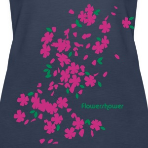 Sky blue flowershower Girlie - Women's Premium Tank Top