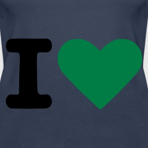 Aqua I love - I heart Ladies' - Women's Premium Tank Top