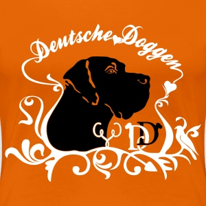 Orange Deutsche Dogge Kopf Dekor Girlie - Frauen Premium T-Shirt