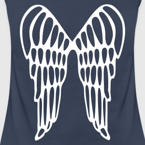 Aqua Angel Wings Flying Ladies' - Women's Premium Tank Top
