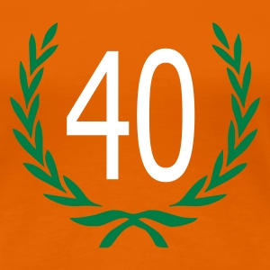 Orange 40 birthday Ladies' - Women's Premium T-Shirt