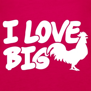 Pink I Love Big Cocks Girlie - Frauen Premium Tank Top