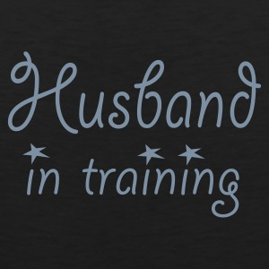Black Husband in Training (wedding, stag, bachelor, engagement) T-Shirts - Men's Premium Tank Top