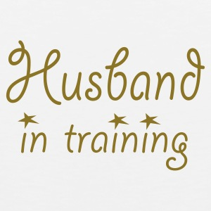 White Husband in Training (wedding, stag, bachelor, engagement) T-Shirts - Men's Premium Tank Top