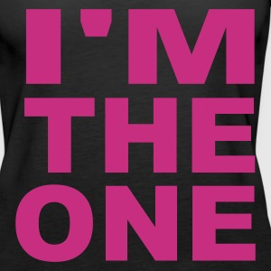 Svart I'm the one Girlie - Premium singlet for kvinner