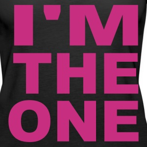 Black I'm the one Ladies' - Women's Premium Tank Top