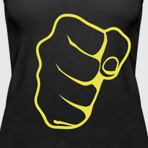 Black Hand - Fist Ladies' - Women's Premium Tank Top