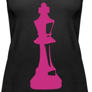 Black King - Chess Ladies' - Women's Premium Tank Top