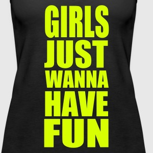 Black Girls Fun Tops - Women's Premium Tank Top