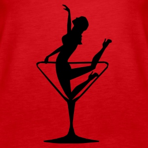 Lady in a Cocktail Glass - Kneeling - Women's Premium Tank Top