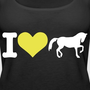 Black I love horses Tops - Women's Premium Tank Top