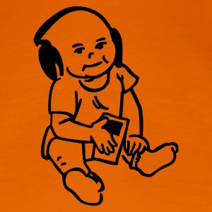 Orange baby mit mp3-Player T-Shirts (Kurzarm) - Frauen Premium T-Shirt