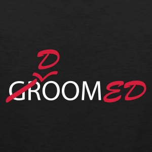 Black Groom (bruidegom, vrijgezellen avond, wedding) Men's Tees (short-sleeved) - Mannen Premium tank top