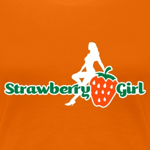 Orange strawberry girl T-Shirts (Kurzarm) - Frauen Premium T-Shirt