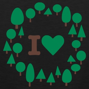 Olive I heart trees Men's Tees (short-sleeved) - Men's Premium Tank Top