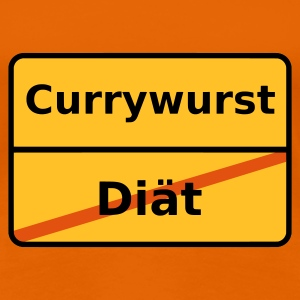 Orange Currywurst T-Shirts (Kurzarm) - Frauen Premium T-Shirt