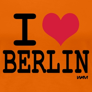 Orange I love berlin T-shirts (m. courtes) - T-shirt Premium Femme
