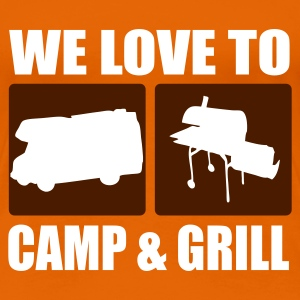 Orange camp & grill T-Shirts (Kurzarm) - Frauen Premium T-Shirt