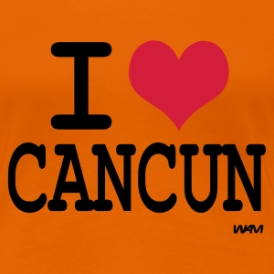 Orange i love cancun T-shirts (m. courtes) - T-shirt Premium Femme