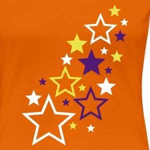 Orange stars pattern multicolor T-Shirts (Kurzarm) - Frauen Premium T-Shirt