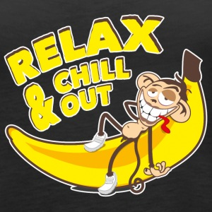 Relax & chill out | Affe auf Banane Tops - Frauen Premium Tank Top