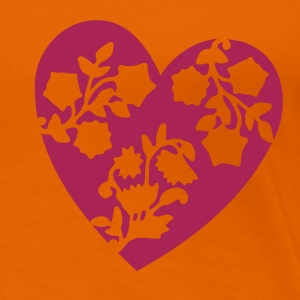 Orange heart T-shirts - T-shirt Premium Femme