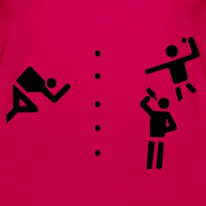 Sexy Flunkyball - Shirt / Top pink - Frauen Premium Tank Top