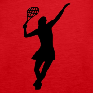 Female Tennis Player - Women's Premium Tank Top