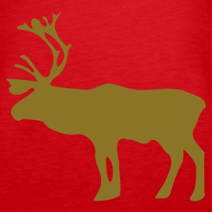 Red Reindeer Tops - Women's Premium Tank Top
