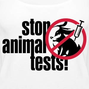Weiß ::STOP ANIMAL TESTS:: Tops - Frauen Premium Tank Top