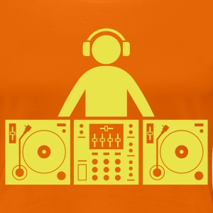 Orange dj at work T-Shirts - Frauen Premium T-Shirt
