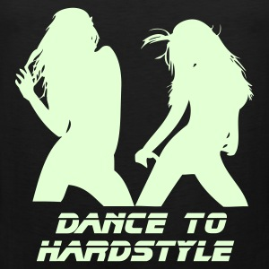 Black Dance to Hardstyle Men's Tees - Men's Premium Tank Top