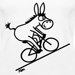 Bicycle donkey, white top - Women's Premium Tank Top